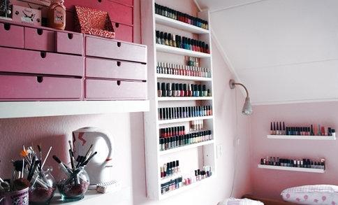 organizando esmaltes ideias de menina tudo sobre o universo feminino. Black Bedroom Furniture Sets. Home Design Ideas