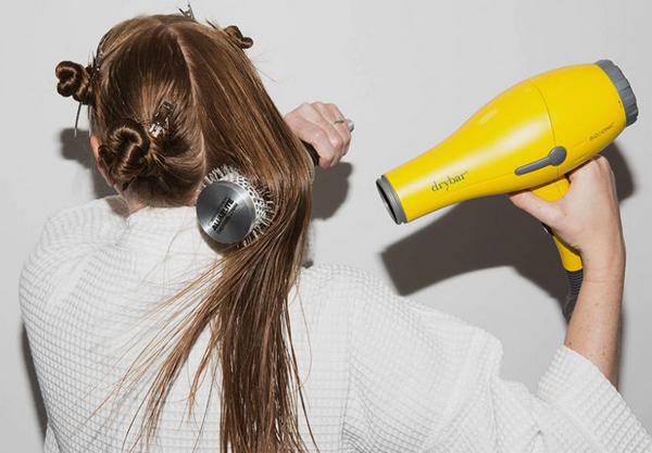 5 dividir cabelo partes secador