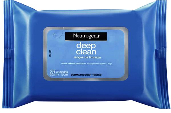 demaquilante lenços de limpeza facial neutrogena deep clean resenha