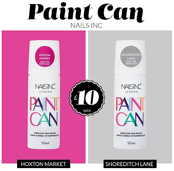 paint can nails inc cores esmalte spray