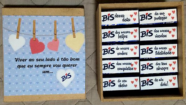 0 caixa bis personalizada namorado presente criativo tutorial