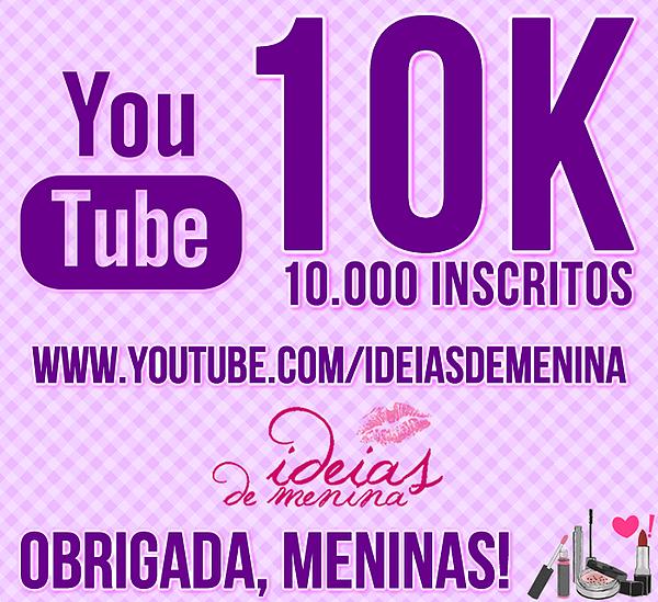 <font color='#f21696'>Youtube:</font> 10 mil vezes obrigada!