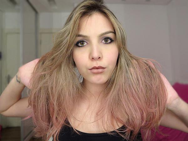 video tudo sobre meu cabelo tag loiro luzes mechas colorido rosa